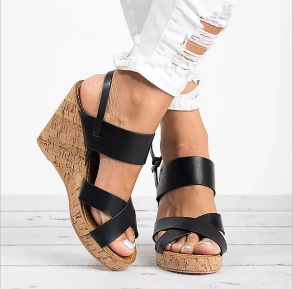 Sloane Open Toe Wedges