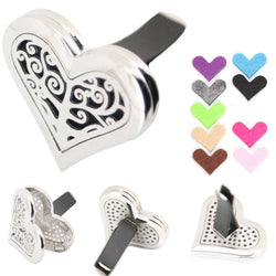 Diffuser - Heart Tree Of Life Stainless Steel Essential Oil Car Diffuser - FREE SHIPPING