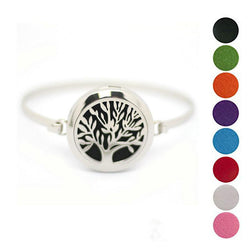 Jewelry - Stainless Steel Tree Of Life Bangle Essential Oil Diffuser Bracelet - FREE SHIPPING