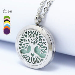 NEW! Stainless Steel Tree of Life Diffuser Necklace