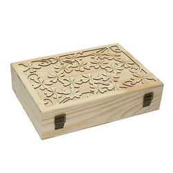 70-slot Decorative Wooden Laser Cut Essential Oils Storage Box