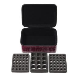 72 Bottle Essential Oil Carrying Case - Burgandy