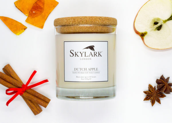 Skylark Candles, Hand poured Soy Candle - Dutch Apple