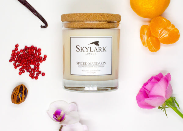 Skylark Candles, Hand poured Soy Candle - Spiced Mandarin