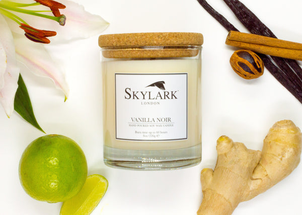 Skylark Candles, Hand poured Soy Candle - Vanilla Noir