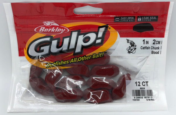 Berkley Gulp Catfish Chunks | Blood