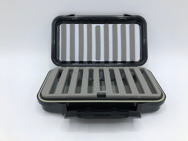 Large Waterproof Streamer Fly Storage Box | Black