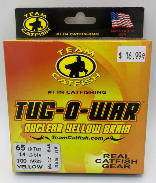 Team Catfish Tug-O-War Braid | Nuclear Yellow | 100 Yds