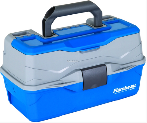 Flambeau 2-Tray Hard Tackle Box | Blue