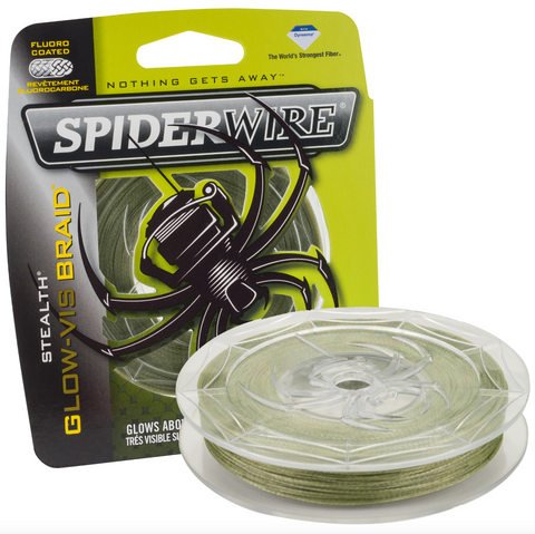 Spiderwire Stealth Glow-Vis Braid | 125 Yds
