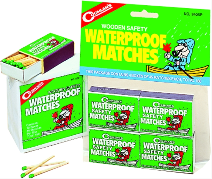 Coghlans Waterproof Matches | 4 Boxes