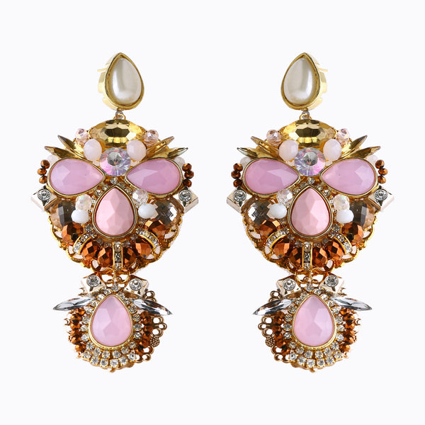 Rose & Gold Harmony Earrings