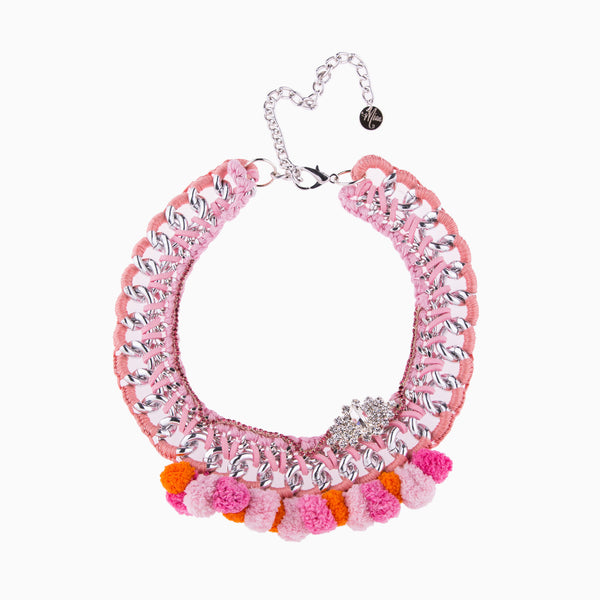 Cotton Candy Coral Pink Necklace