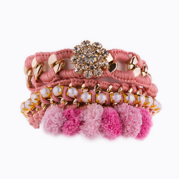 Perfect Sweet Combo Coral Pink Bracelet