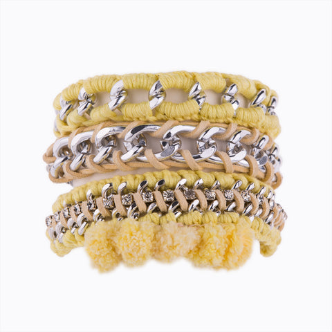 Marshmallow Heaven Yellow Bracelet