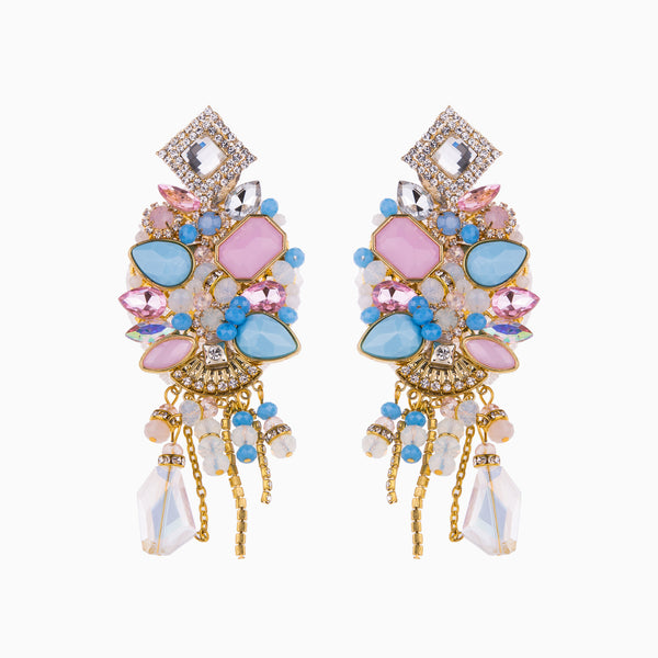 Blush Pink & Sky Blue Earrings