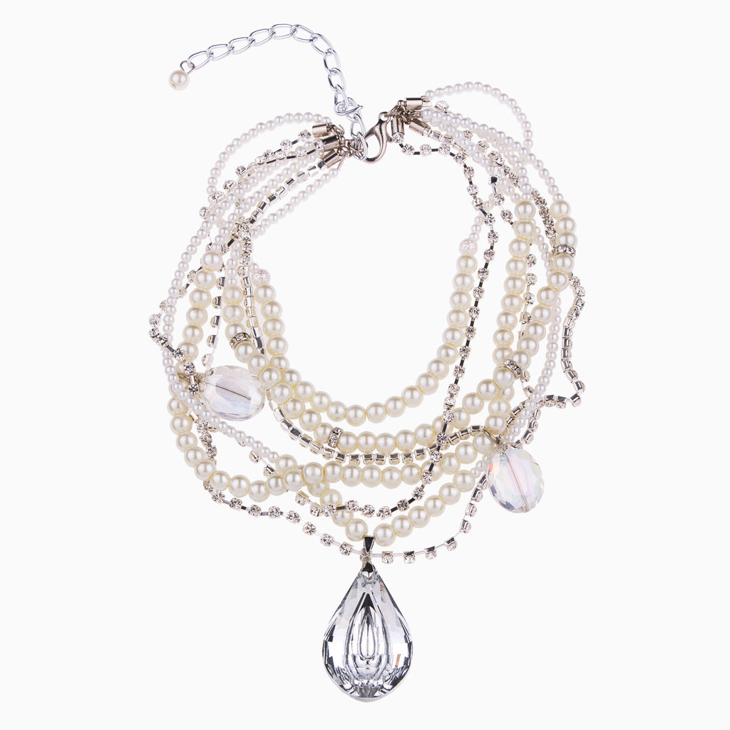 Pearls and Crystals Statement Necklace