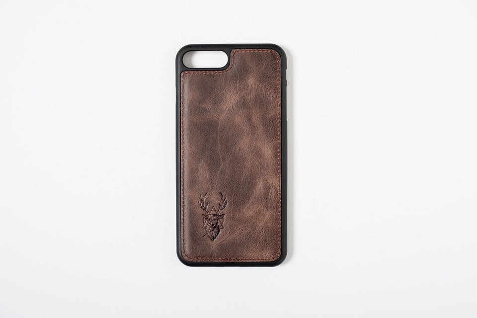 Phone Case - iPhone 7 Plus / 8 Plus - Chocolate Brown