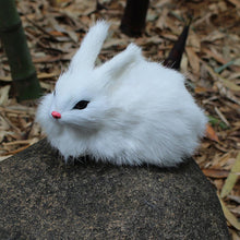 15cm Mini Realistic Looking Furry Bunny Toy