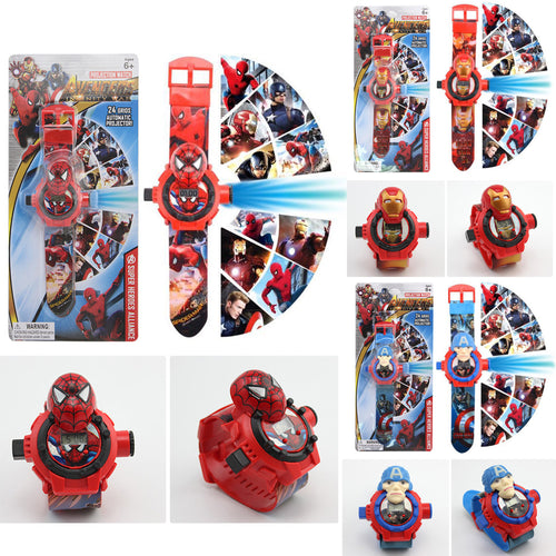 24 Images 3D Projection Superhero Watch - 3 Models
