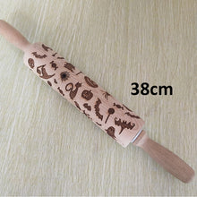 21% OFF - LIMITED TIME OFFER - Halloween Engraved Wooden Decorative Rolling Pin - 38cm