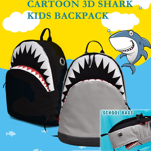 28% OFF - LIMITED TIME OFFER - 3D Shark Children Backpack - 2 Sizes