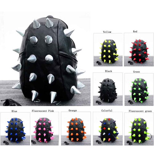 3D Spiky Gator PU Leather Backpack