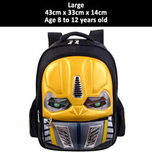 30% OFF - LIMITED TIME OFFER - 3D Transformers Children Backpack with LED Flashing Eyes
