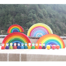 28% OFF - LIMITED TIME OFFER - 12Pcs Educational Rainbow Wooden Figurines - 6.5cm x 4cm