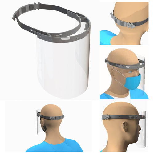 $14-$25 - Adjustable Face Shield with Back Buckle - Health Canada Approved