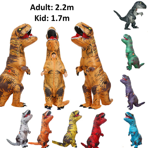 25% off - LIMITED TIME OFFER - Adult and Kid Inflatable T-Rex Dinosaur Costume