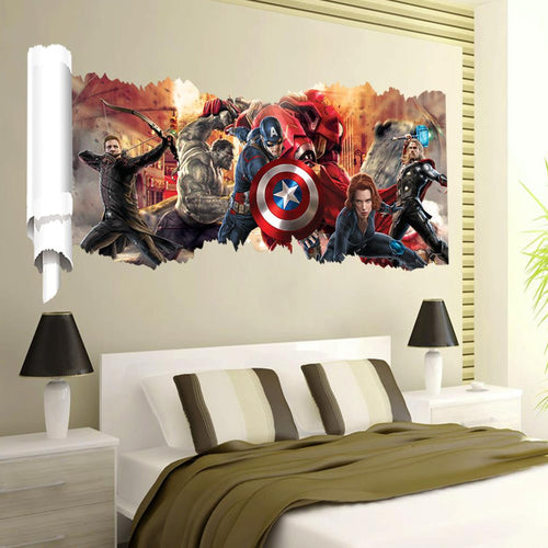 Avengers 3D Effect Wall Decal