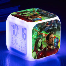 Avengers: Infinity War - Superheroe LED 7 Colours Changing Alarm Clock