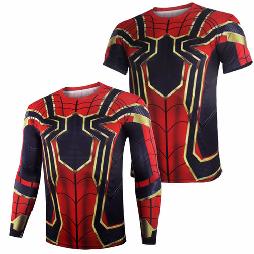 14% to 16% OFF LIMITED TIME OFFER - Avengers: Infinity War Spider-Man Fitness Shirt