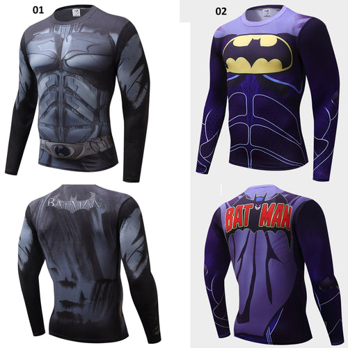 Batman Long Sleeve Compression Shirt - 2 Models