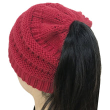 Beanie Tail Messy Bun Winter Hat
