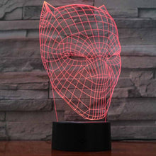 Black Panther Mask 3D Optical Colour Changing Illusion Touch Control Light