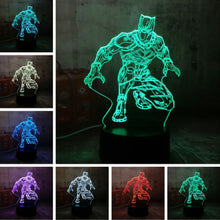 Black Panther 3D Optical Colour Changing Illusion Light - 3 Control Options
