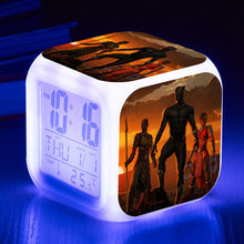 Black Panther LED 7 Colours Changing Alarm Clock