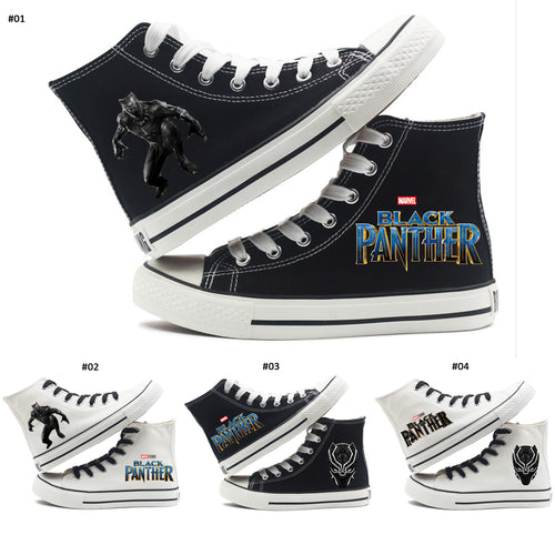 14% OFF LIMITED TIME OFFER - Black Panther Ankle-High Lace-Up Canvas Sneakers