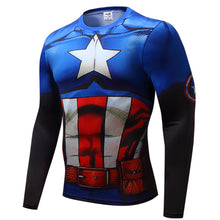 Captain America Long Sleeve Compression Shirt - 5 Models