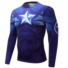 Captain America Long Sleeve Compression Shirt - 2 Models