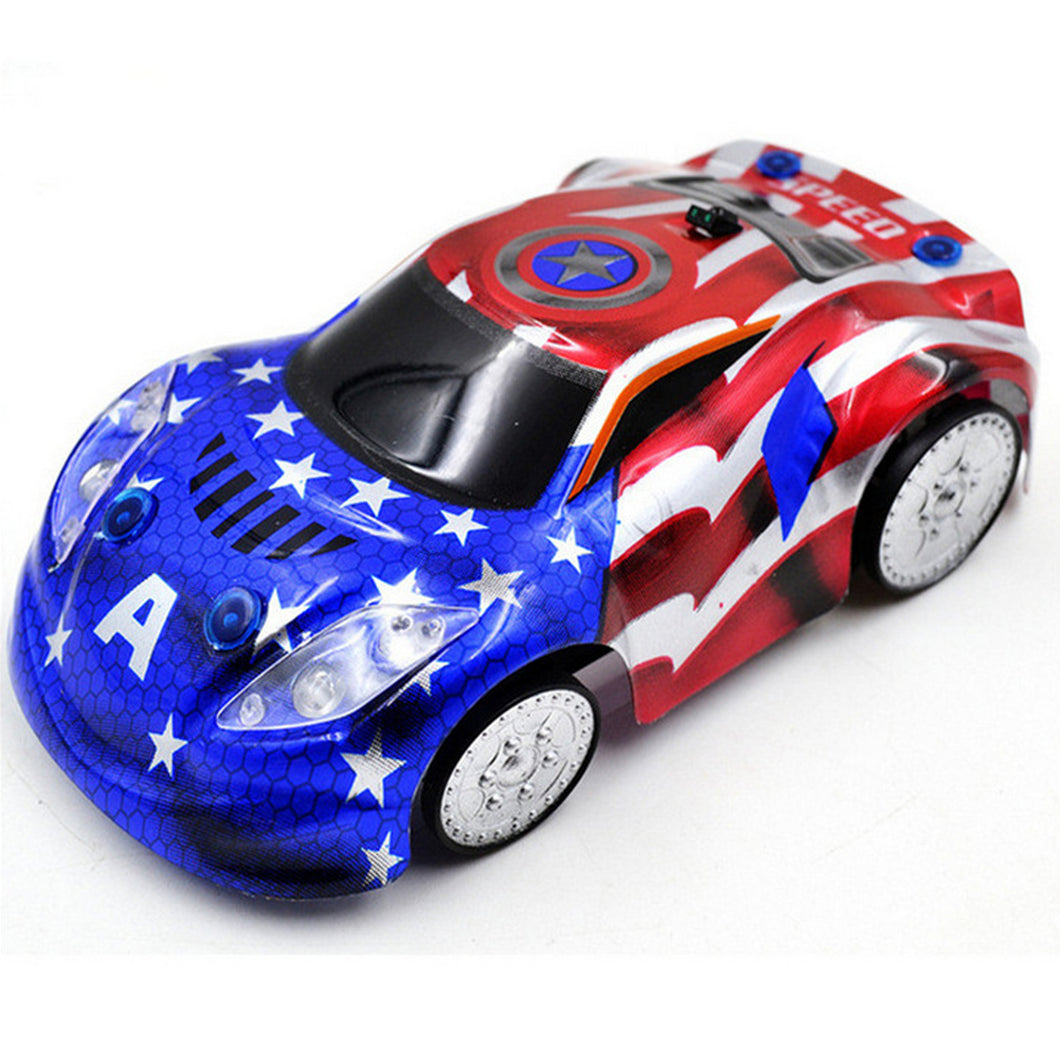 Captain America & Spider-Man Wall Climbing & Anti Gravity Ceiling Racing RC Car