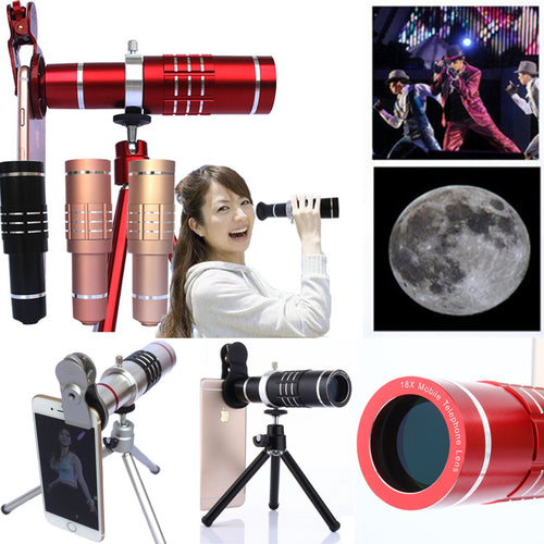 30% OFF - LIMITED TIME OFFER - Clip On 18X Optical Zoom Cell Phone Telescope with Tripod