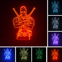 Deadpool 3D Optical Colour Changing Illusion Light - 3 Control Options
