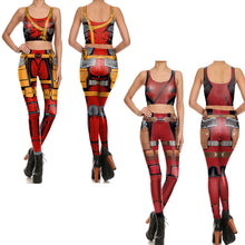 Deadpool Women Fitness 2-Pces Set - Leggings and Top