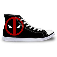 14% OFF LIMITED TIME OFFER - Deadpool Ankle-High Lace-Up Canvas Sneakers