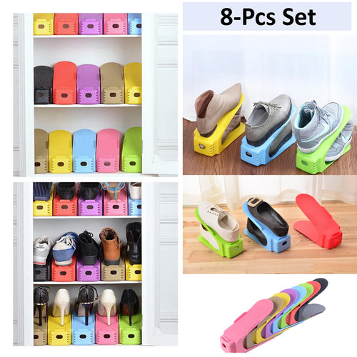 37% OFF - LIMITED TIME OFFER - Double Shoes Rack Organizers - 8-Pcs Set