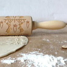 25% OFF - LIMITED TIME OFFER - Easter Engraved Wooden Decorative Rolling Pin - 35cm
