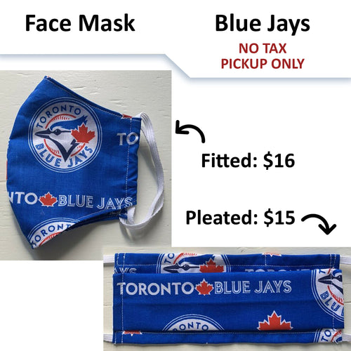 No Tax - Blue Jays Face Mask - Licensed Fabric (Pickup Only)